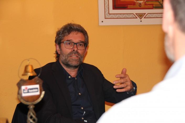 Das Foto zeigt PD Dr. med. Dr. phil. Daniel Sollberger, Stv. ärztlicher Direktor und Chefarzt Psychiatrie Baselland am iPunkt-Stammtisch